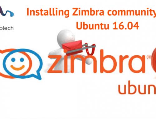 Installing Zimbra community 8.7 on Ubuntu 16.04