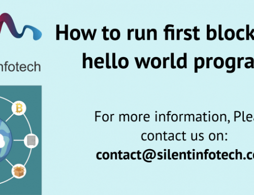How to run first blockchain hello world program!